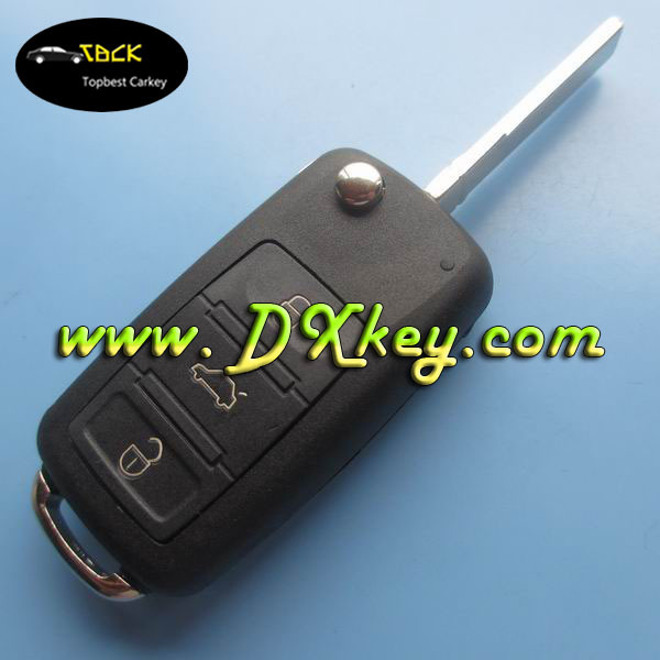 3 buttons remote key cover for vw key vw touareg car key with HU 66 blade