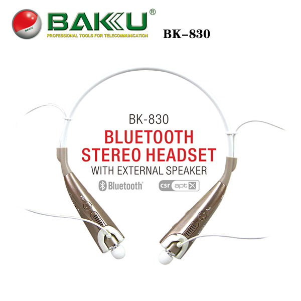BAKU Hot Sell bluetooth headphone for built in speake and Water Proofing