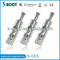 Heaven hot sell E cigarette eGo S CE5 rebuildable coil CE5 vaporizer Chrome steel round ring body wholesale