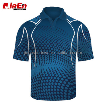2017 Hot sale custom made sublimated cricket jersey DYO pretty sublimation cricket jersey pattern