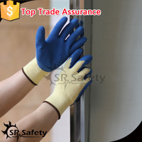 SRSAFETY 13g nylon micro foam finish latex palm coated working glove,popular gloves in china