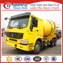 HOWO 6x4 mobile concrete truck mixer with 10 cubic meter mixer truck for hot sale