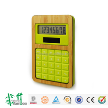 2015 hot new product Hairong bamboo 8 digit solar desk calculator with dual power