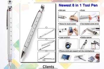 2017 Best Selling Aluminum Tool Pen With Ballpen