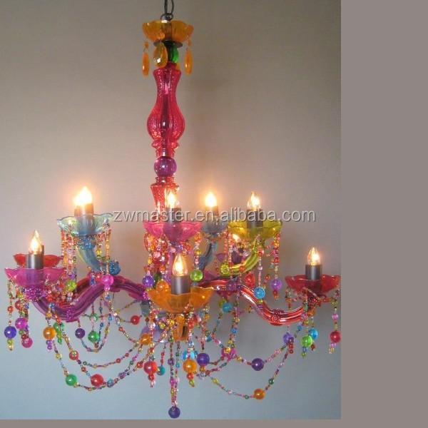 living room lobby modern foshan lighting colorful crystal chandelier