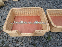 wicker pet basket set of 3 wicker pet house