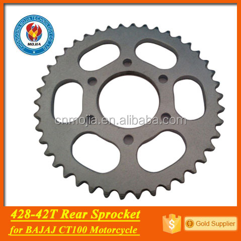 factory sell roller chain sprocket bajaj ct100 motorcycle parts