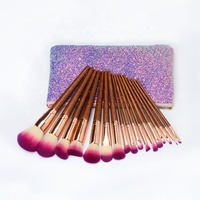Portable Women Cosmetic New Arrival Pink Shiny Makeup Pouch Luxury Glitter Cosmetic Bag