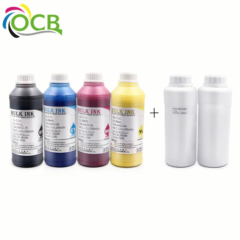 Ocbestjet Refill Digital Textile Ink For Epson 4880 7400 7450 9400 Printer