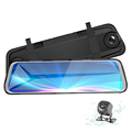 9.66''' Streaming Media Rearview Mirror car camera 360 dash cam With HD 1080p and Night Version