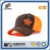 Lighted orange flat embroidery fashion fitted mesh cap