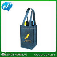 High quality exported cotton wine bottle bag