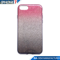 OEM brand gradient glitter free sample mobile tpu phone case for Iphone7