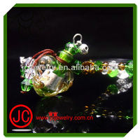2012 glass perfume bottle pendant oil jewelry for chirstmas gift