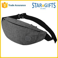 China Supplier Wholesale Cheap Simple Canvas Waist Bags With Customized Print