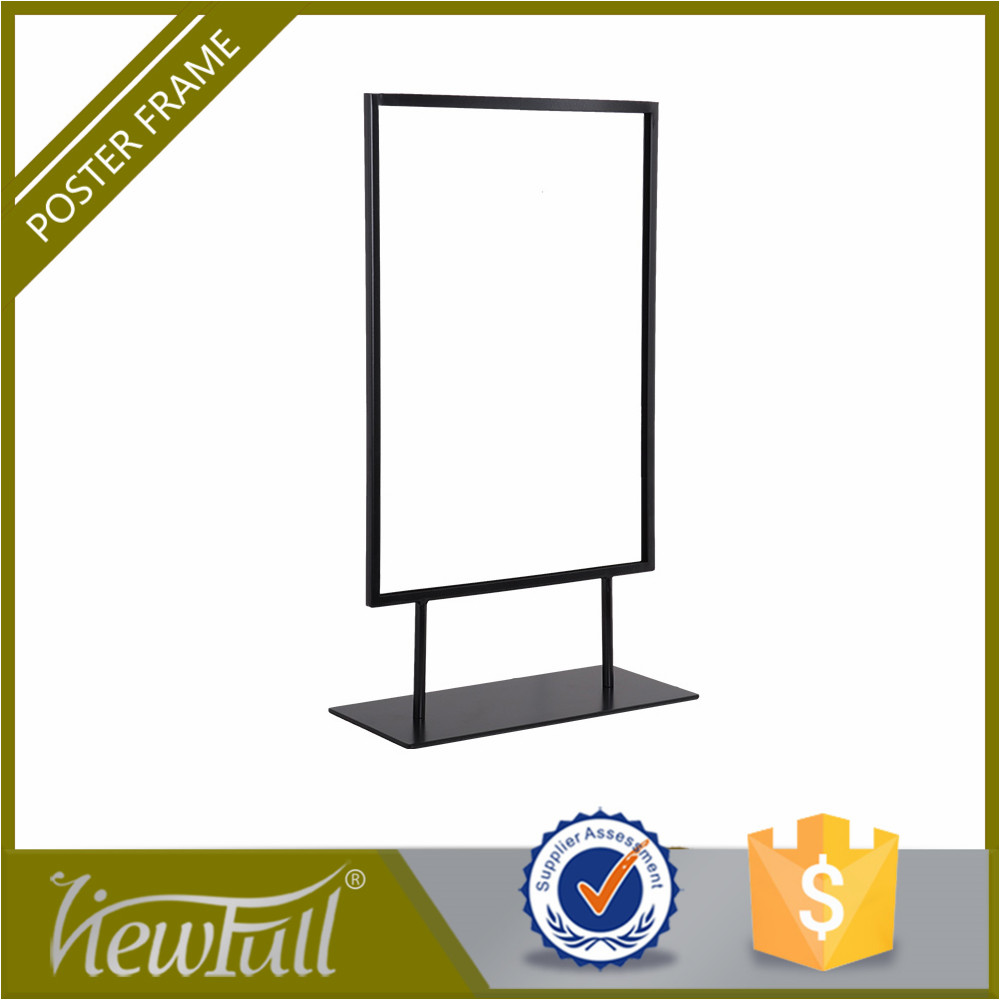 adjustable height store aluminum photo frame stand display
