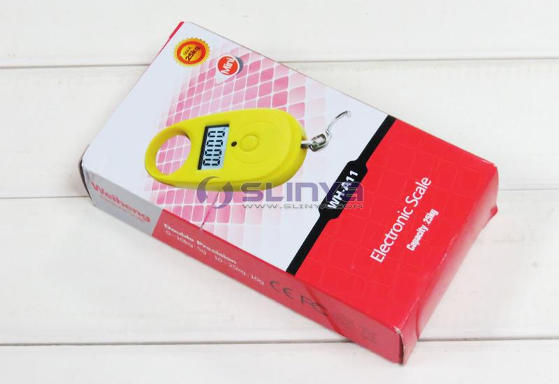 27mm Long Hook 55LB CR2032 Power Mini 4 Color Option WH A11 Digital Hanging Scale