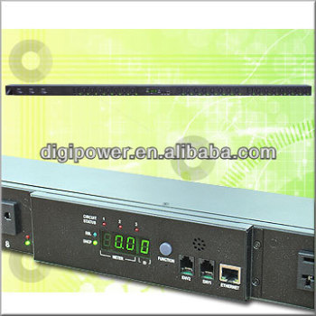 24 ports 115V 30 amp IP PDU, Per Outlet Switch and Monitor
