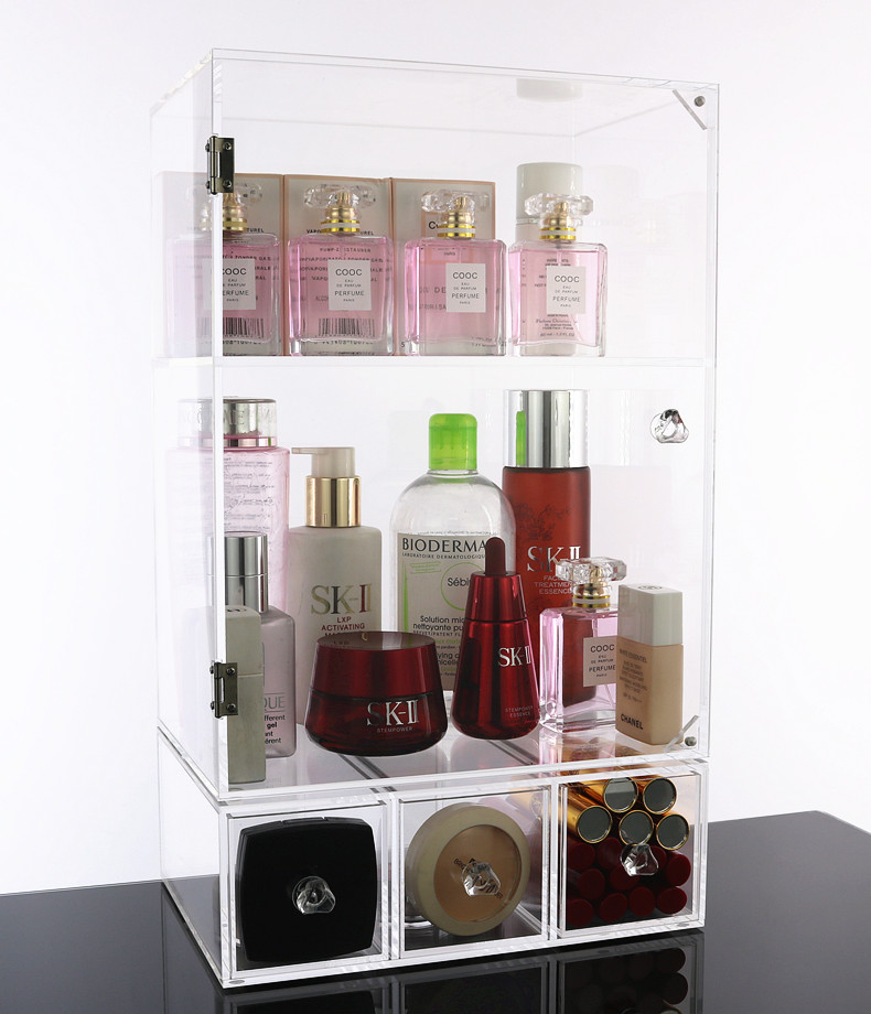 High Quality Transparent  Acrylic Cosmetic Makeup Organizer Storage Box