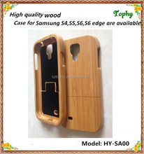 For Samsung s4 case wood full plain factory price, Real Wood Case Natural Textured Raw Wood/Bamboo Cases for Galaxy S4
