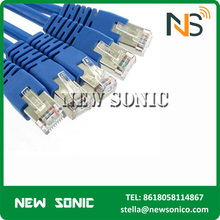 Flat Ethernet Cable Blue/Black Color cat6 patch cord Outdoor/Indoor Cable FTP/UTP/SFTP Cat6