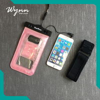 PVC waterproof swimming cellphone bag for mobile phone