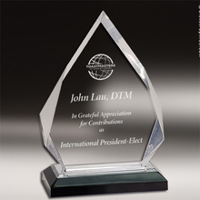 New design crystal trophy award,acrylic crystal hand trophy,transparent crystal trophy in dubai