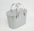 Oval shaped metal tin bucket can with 2 handles for cookies candy gifts