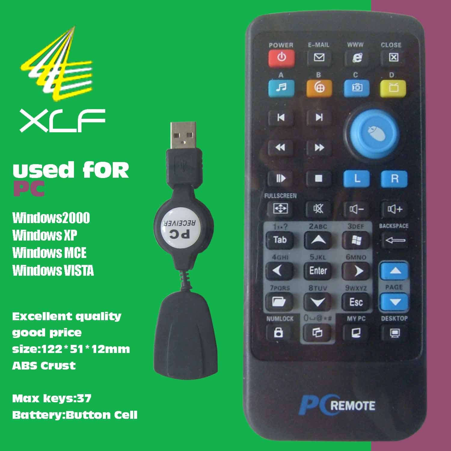 pc remote with laser pointer fly mouse air mouse pc remote control
