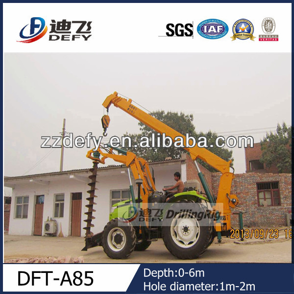 hydraulic high efficiency tree planting hole digger for sale