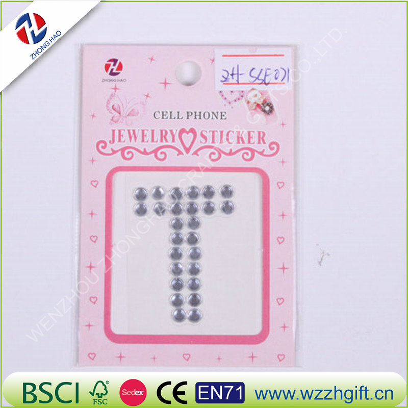 Bling Crystal Diamond Sticker Figure Alphabet and Number Decor Metal Car Decoration Accessories car styling