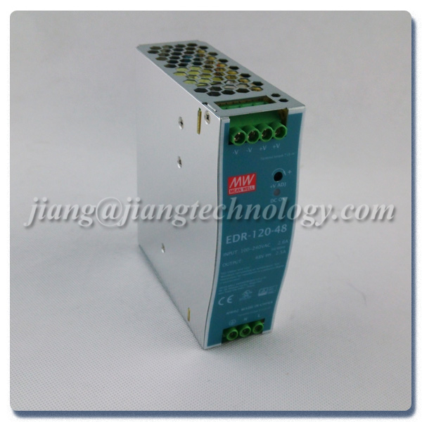 120W 48V 2.5A Din Rail Power Supply Mean well EDR-120-48 Smps Power Supply Circuit DIN Rail