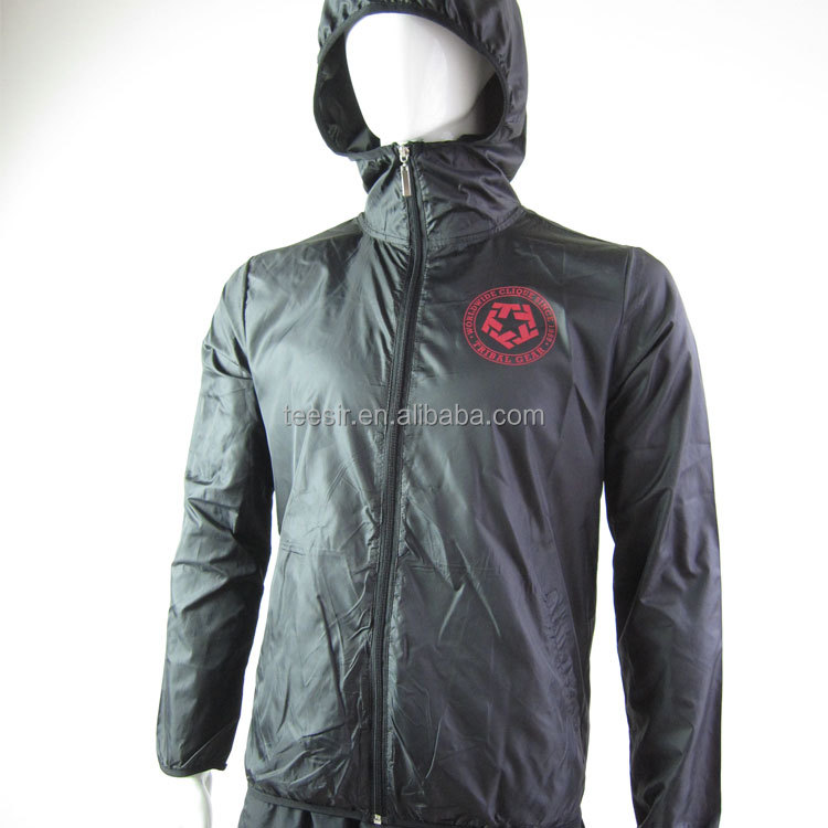 Custom zip up promotional windbreaker with Printed logo