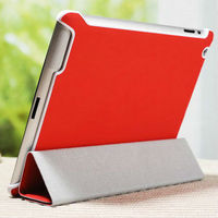 2015 Wholesale China New Custom natural genuine leather stand cover genuine leather case for ipad 4