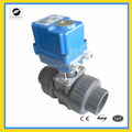 Electric Motorized PVC shut off Ball Valve with electric actuator replace the manual valve