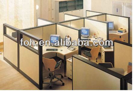 Custom design plain rectangular partitioned desk/popular partitions for office, reading hall (FOHF-331)