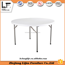 4ft round plastic round kitchen custom folding table top