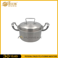 Factory price 24-26cm 304 stainless steel soup pot/stock pot/casserole