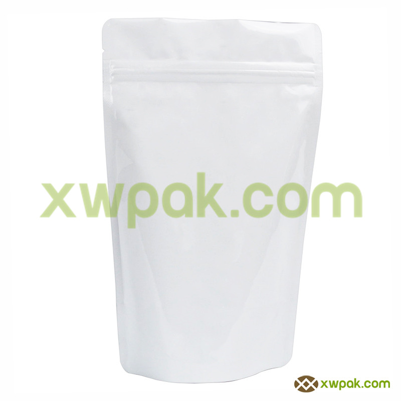 2 oz White Stand Up Pouch with Zipper