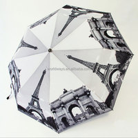 NU-074 Wholesale Cheap Umbrellas Iron Tower Pattern Umbrella