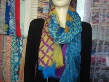 printed scarf 100% wool schal