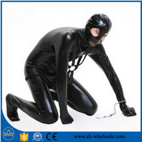 Cheap PVC Full Body Latex Catsuit With Condom