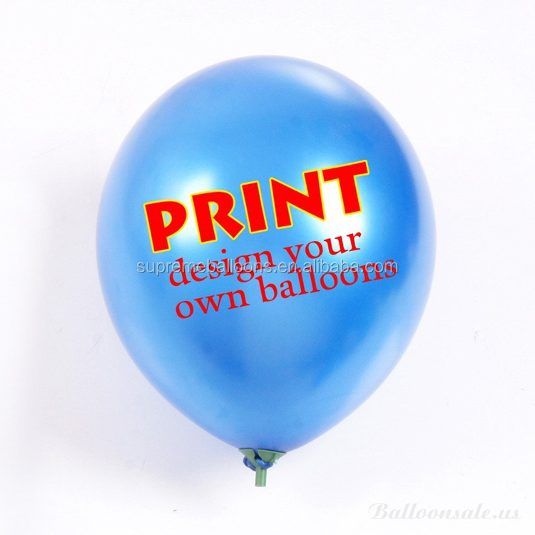 custom 100% natural printed latex balloon