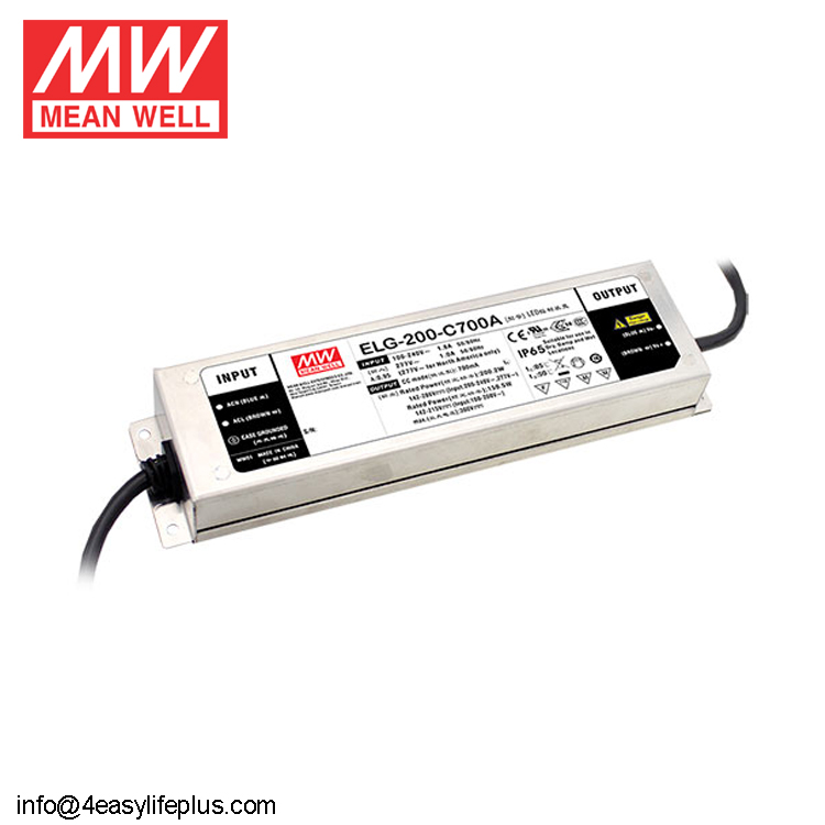 Mean Well ELG-200-C2100A 200W Constant Current LED Street Light Driver 2100mA