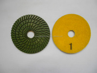 4inch 3 Step Diamond Wet concrete grinding pad stone