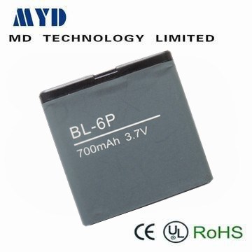mobile phone rechargeable battery 3.7V 700 mAh BL-6P for MYD