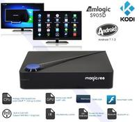 HOT!!! Magicsee android tv box with DVB-s2 DVB-T2 DVB-C strong functon set top box receiver for the world