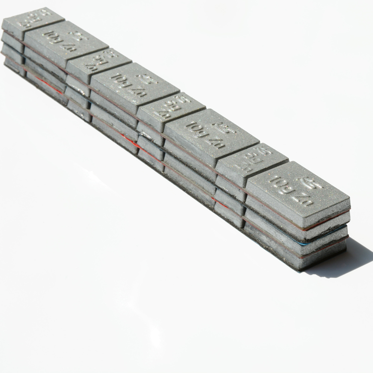 Zinc stick on wheel balancing weights