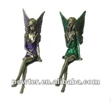 Pewter Sitting Fairy Figurines