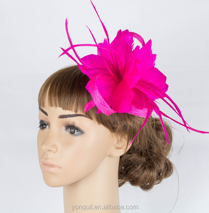 Free shipping 17colors feather fascinator bridal headpiece wedding headwear for cocktail hats occasion hair accessoires MYQ068